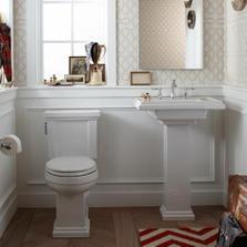 ...o umývadle s nohou a o wc s páčkou na splachovanie :)