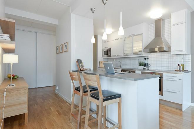 Drevo a biela v kuchyni - Obrázok č. 64