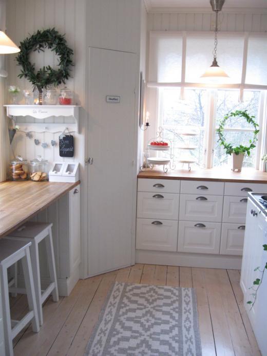 Drevo a biela v kuchyni - Obrázok č. 71