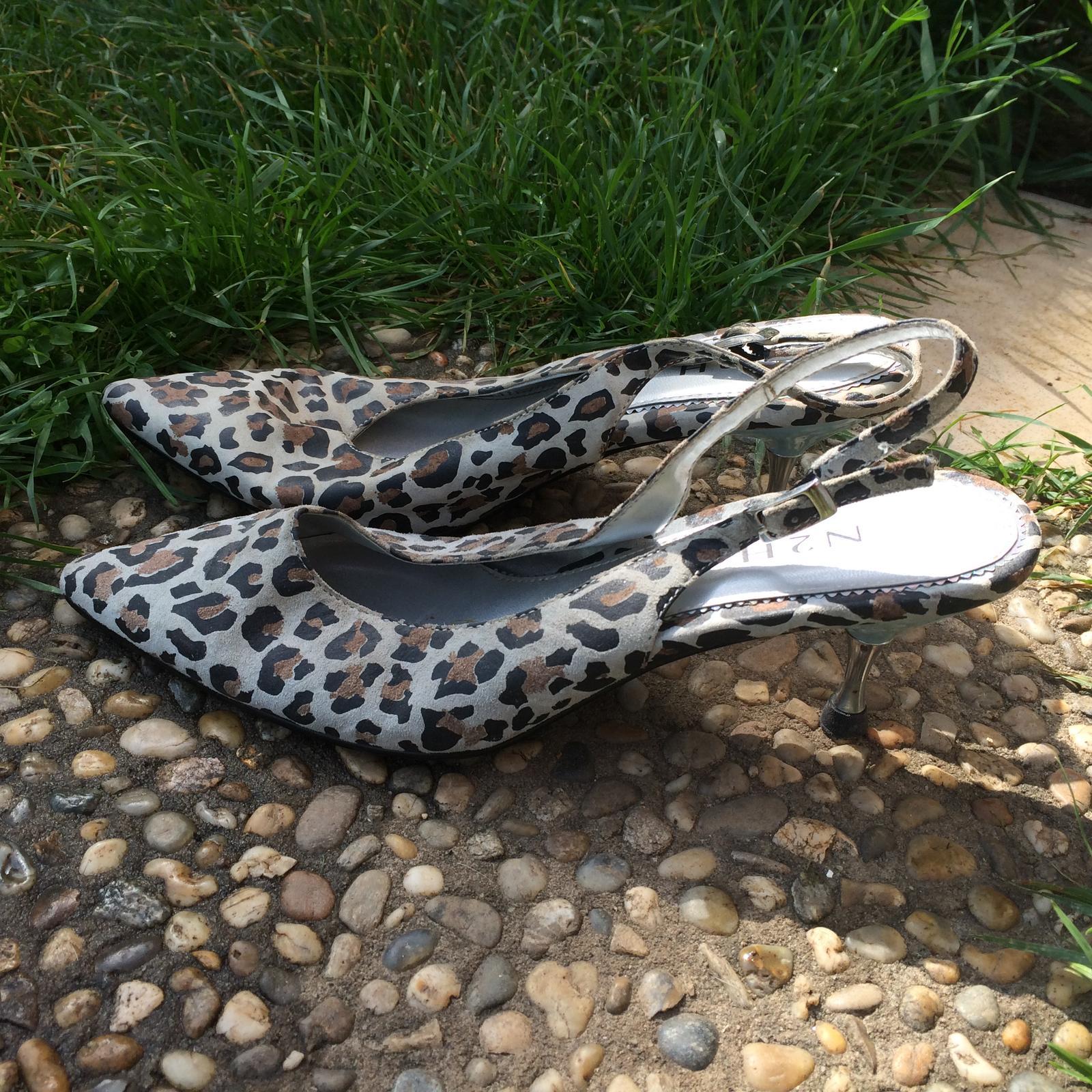 Leopardí boty na podpatku - Obrázek č. 1