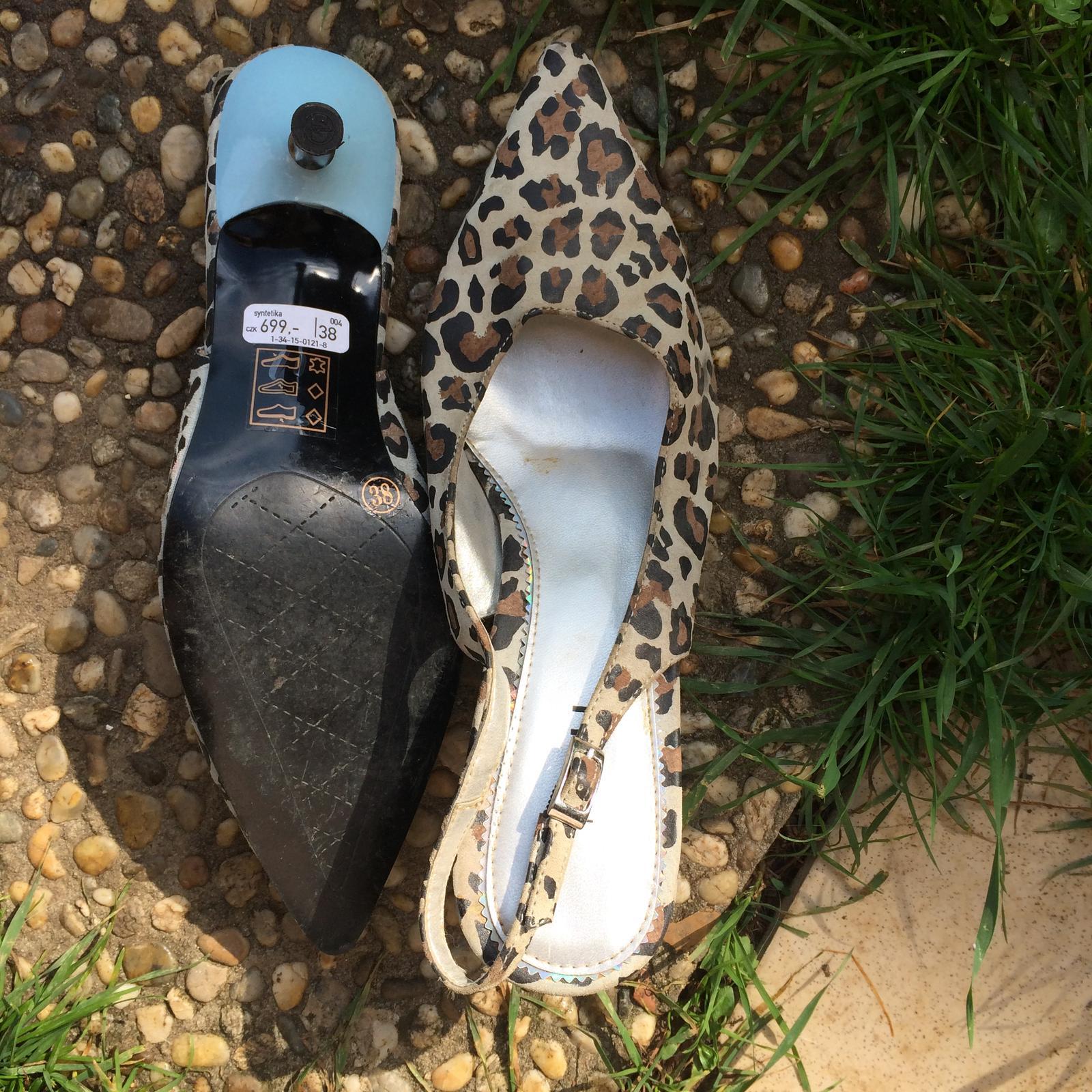 Leopardí boty na podpatku - Obrázek č. 3