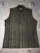 Černé tričko s roláčkem, 44