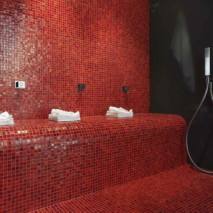 MOZAIKY - keramické, gresové, sklenené - Sklenená mozaika