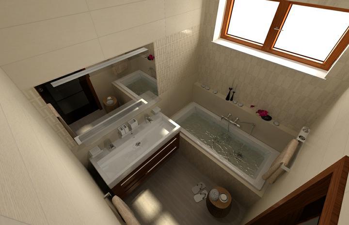 Galéria kúpeľní - vizualizácie - Malá kúpeľňa - vizualizácia
