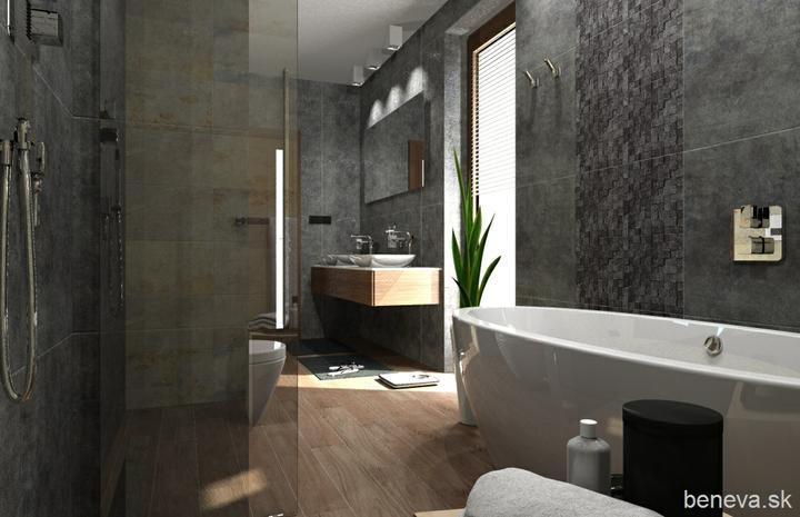 3D návrhy kúpeľní - Vizualizácia kúpeľne BENEVA - www.modernekupelne.sk