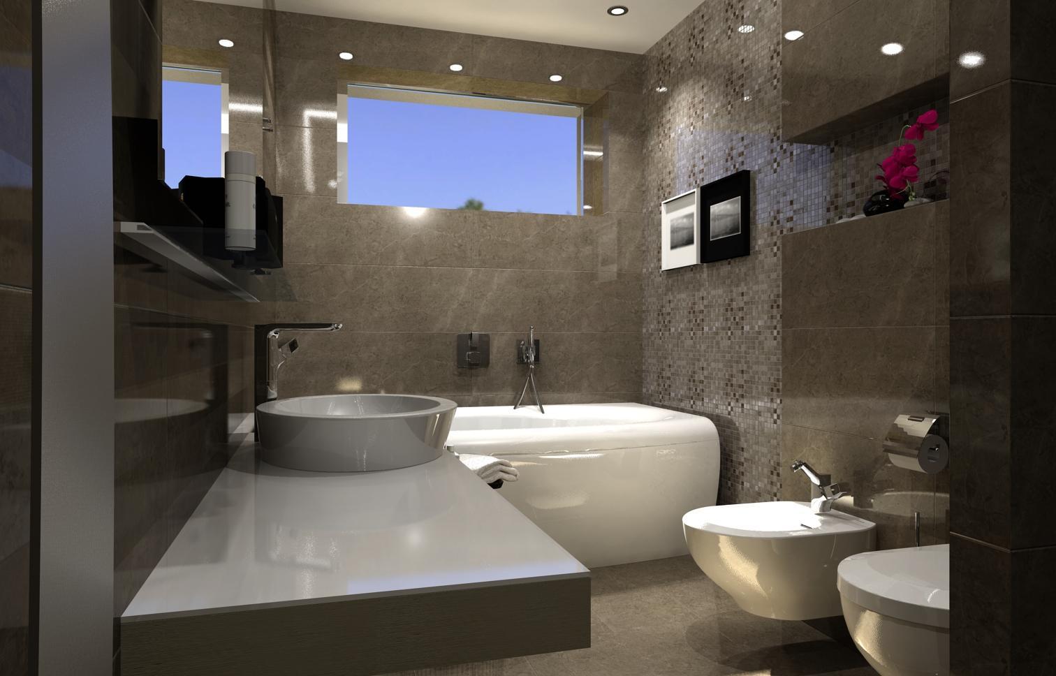 Vizualizácia kúpeľne a toalety v RD - Vizualizácia kúpeľne
