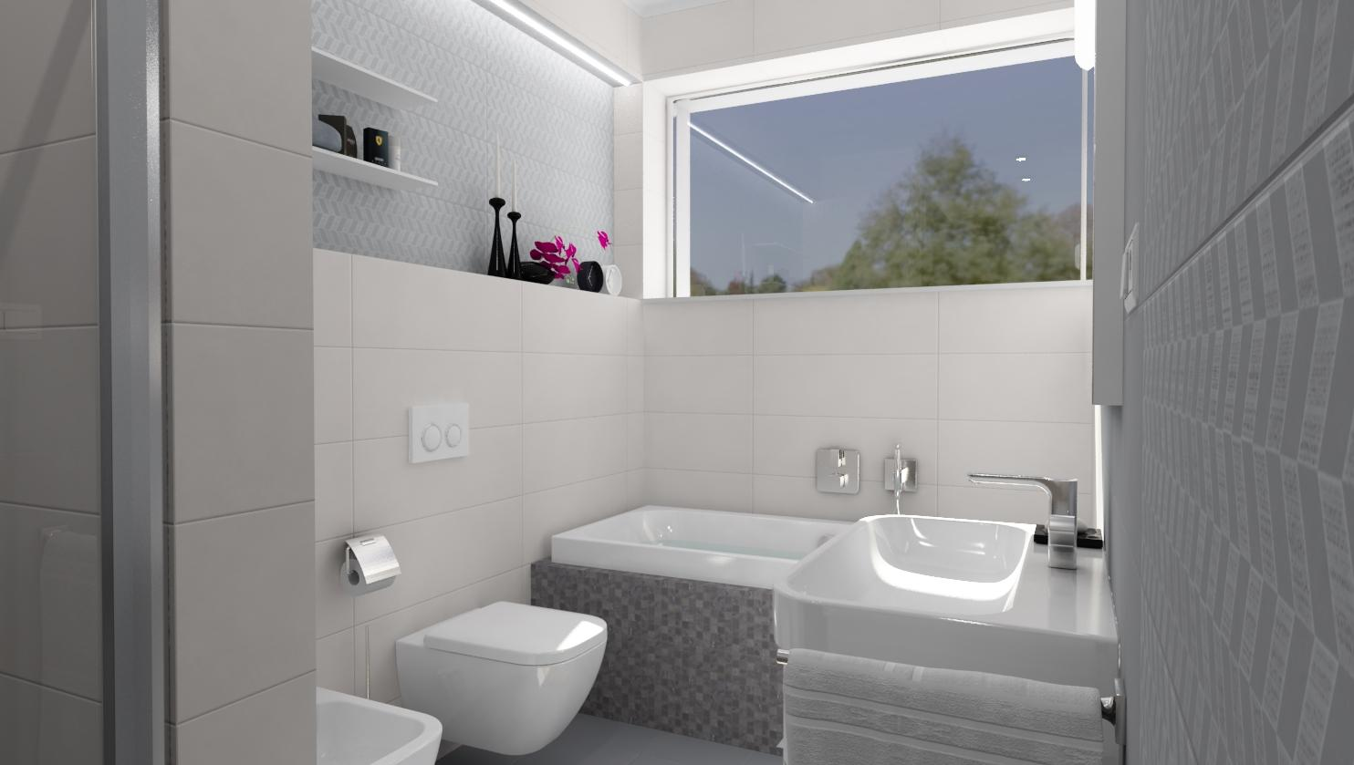 Pohľad do vašej budúcej kúpeľne - Pearl & Grey 25x75 - www.modernekupelne.sk/navrhy-kupelni