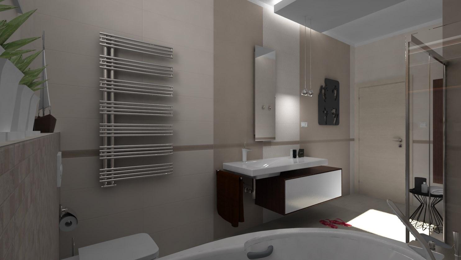 Vizualizácie kúpeľne - Návrh kúpeľne Ivory & Toffee 25x75 - www.modernekupelne.sk/navrhy-kupelni