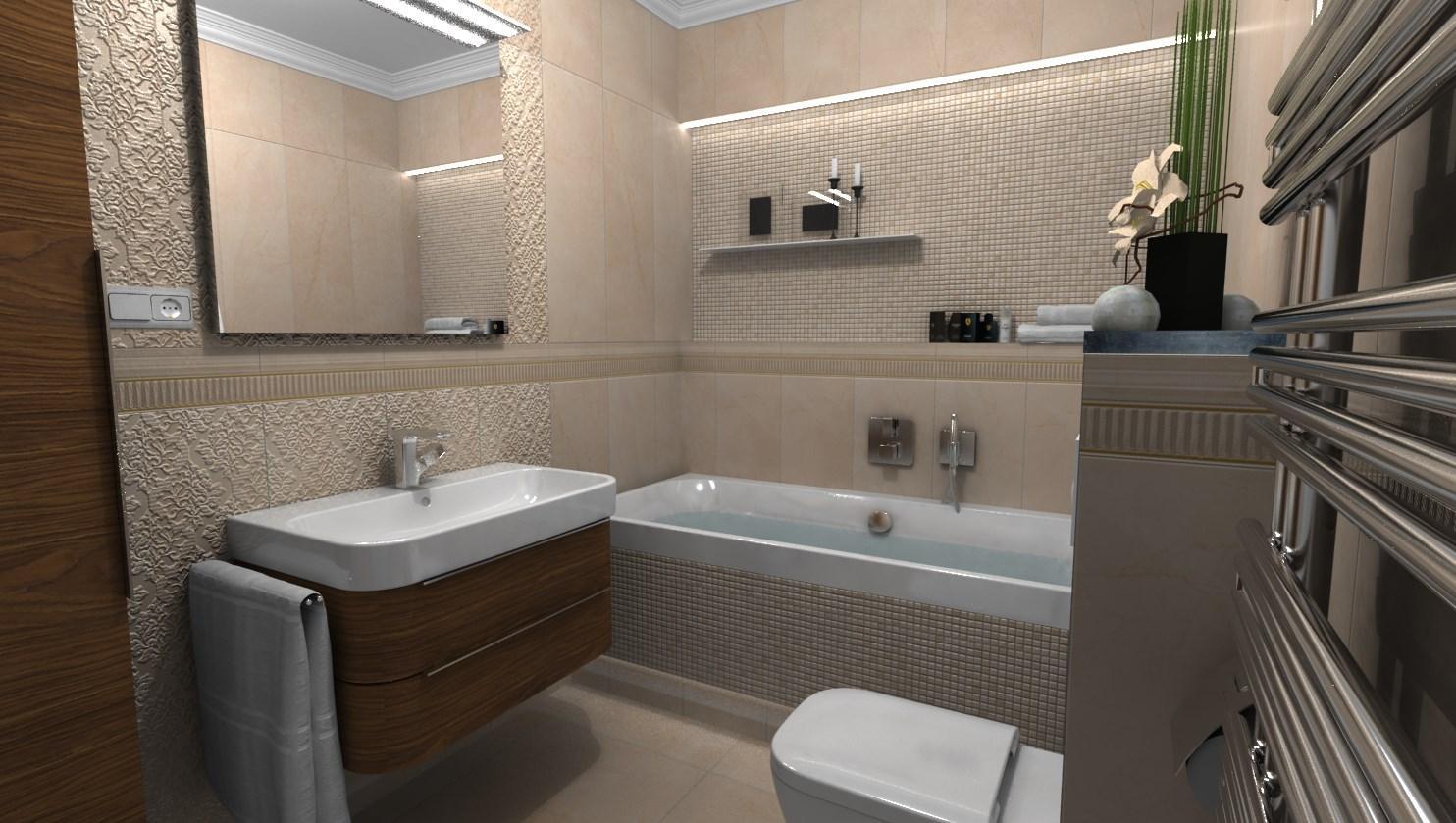 Pohľad do vašej budúcej kúpeľne - Návrh kúpeľne DeLuxe - www.modernekupelne.sk/navrhy-kupelni