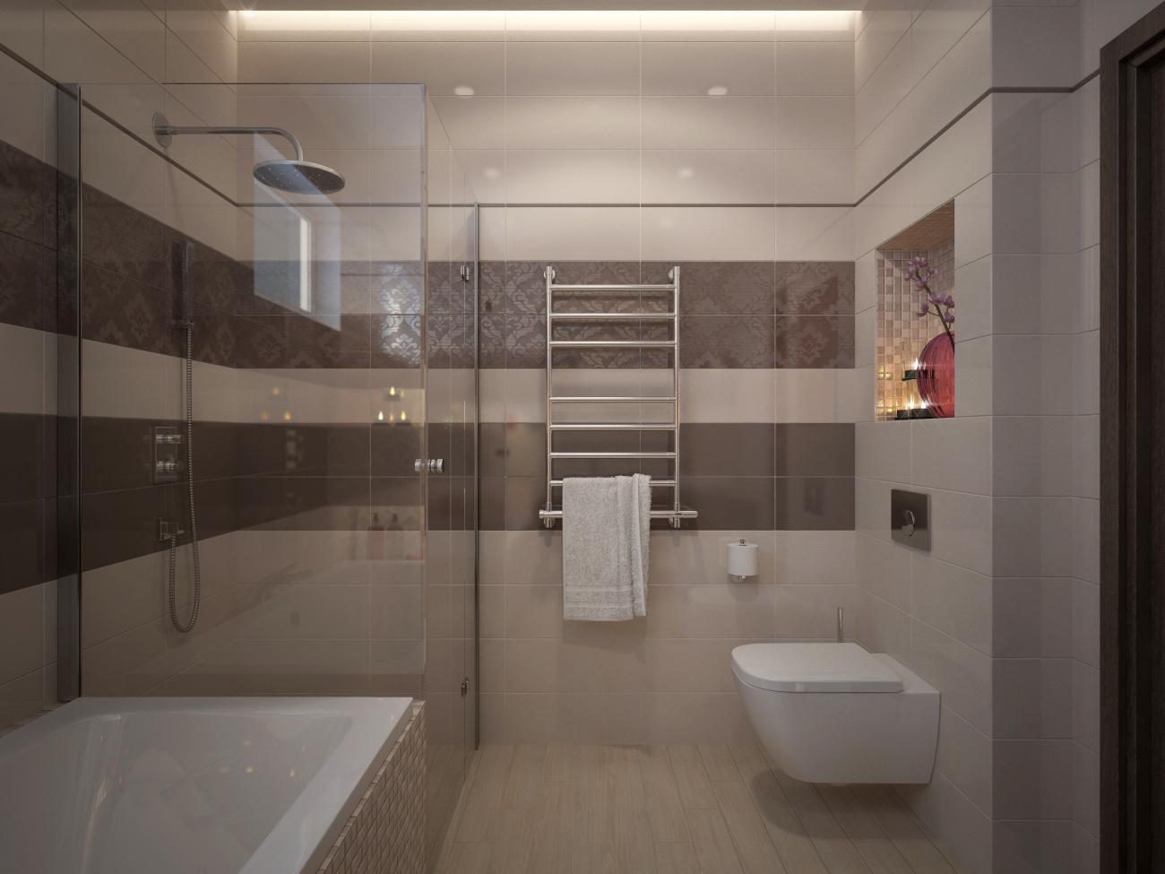 Vizualizácie kúpeľne - Akú kúpeľňu si vybrať? Vizualizácia kúpeľne - 2 farebné varianty - www.modernekupelne.sk/navrhy-kupelni