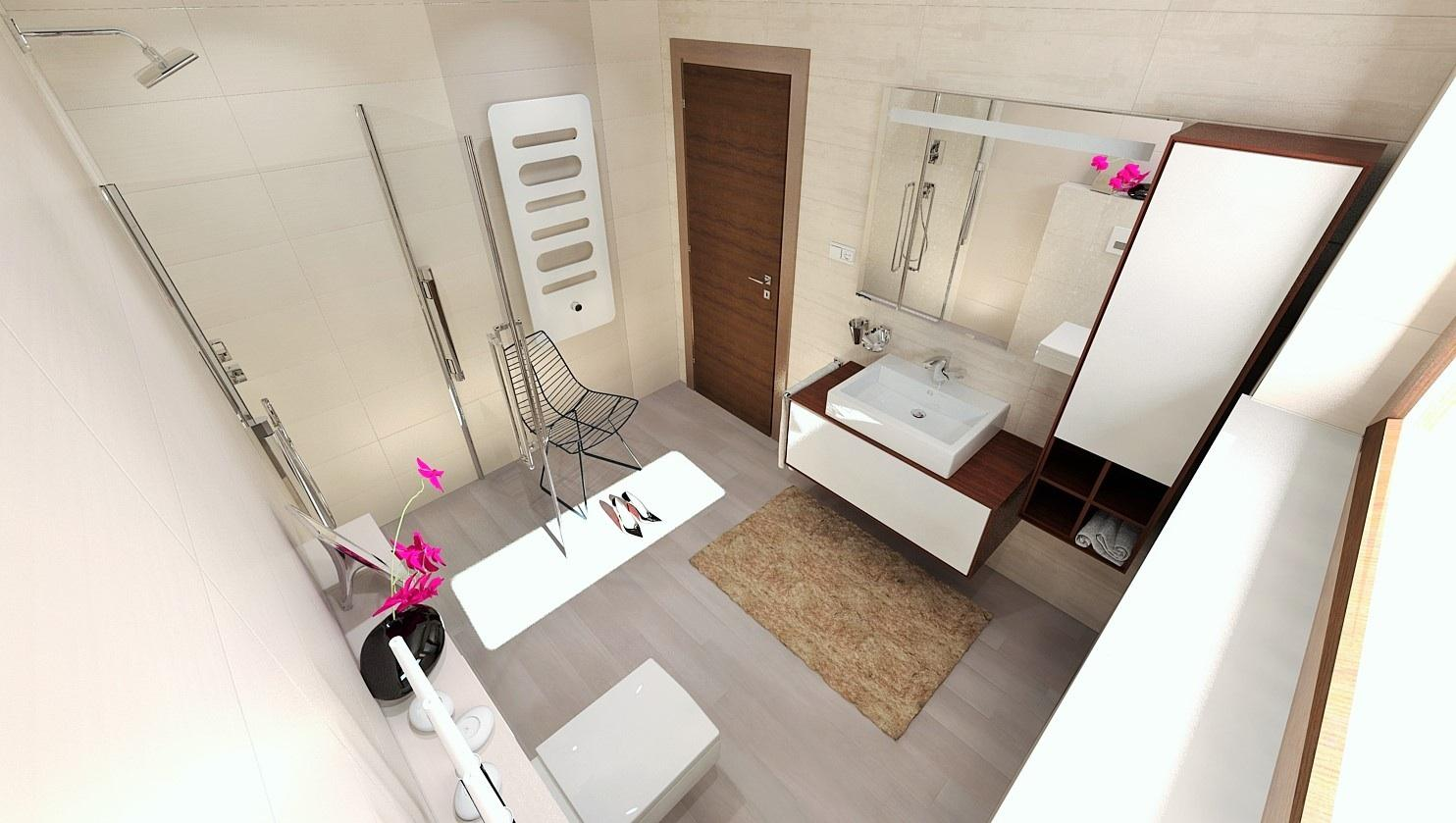 Vizualizácie kúpeľne - Vizualizácia kúpeľne 25x75 - www.modernekupelne.sk