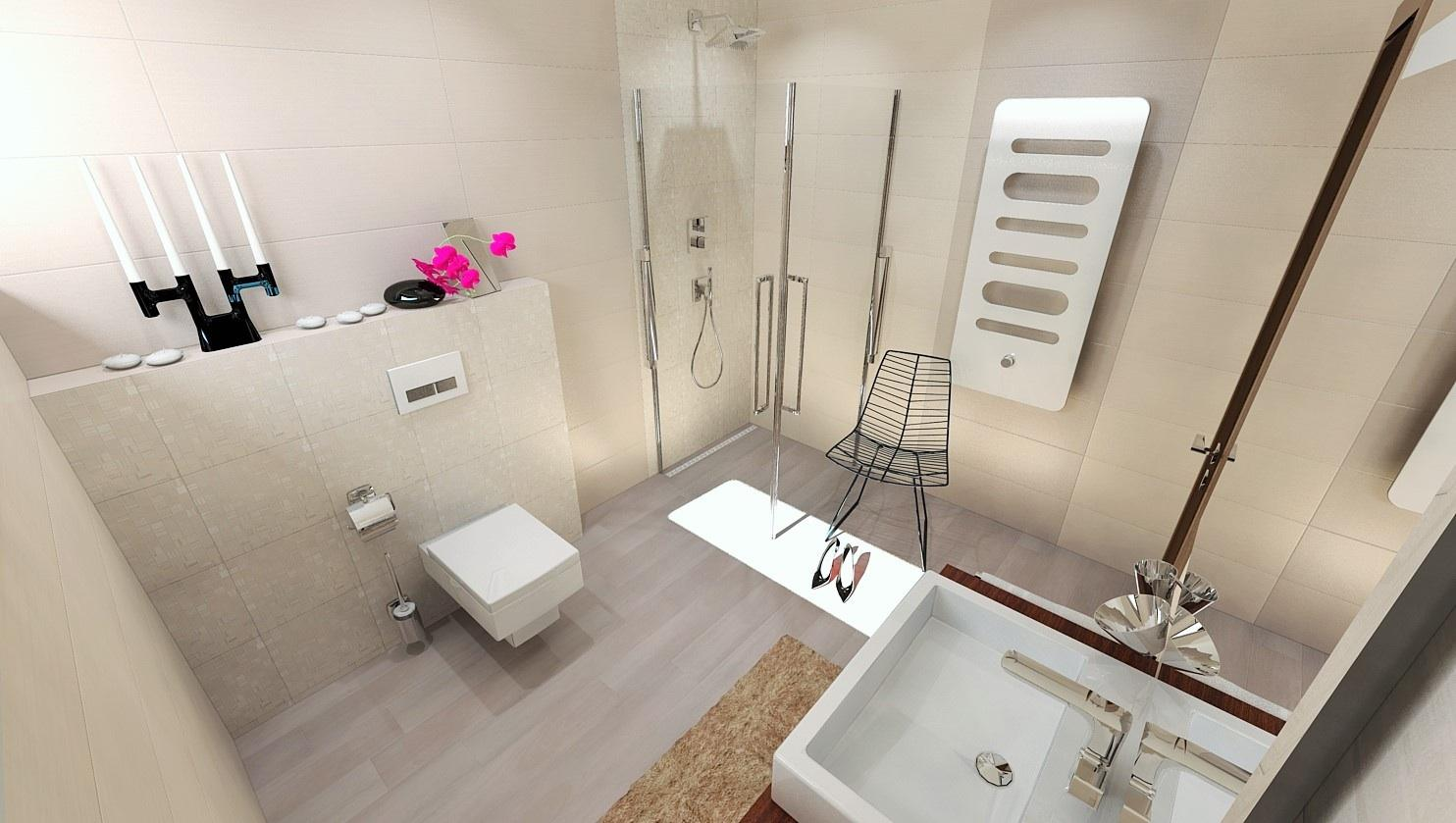 Vizualizácie kúpeľne - Vizualizácia kúpeľne z novej kolekcie LACE - www.modernekupelne.sk