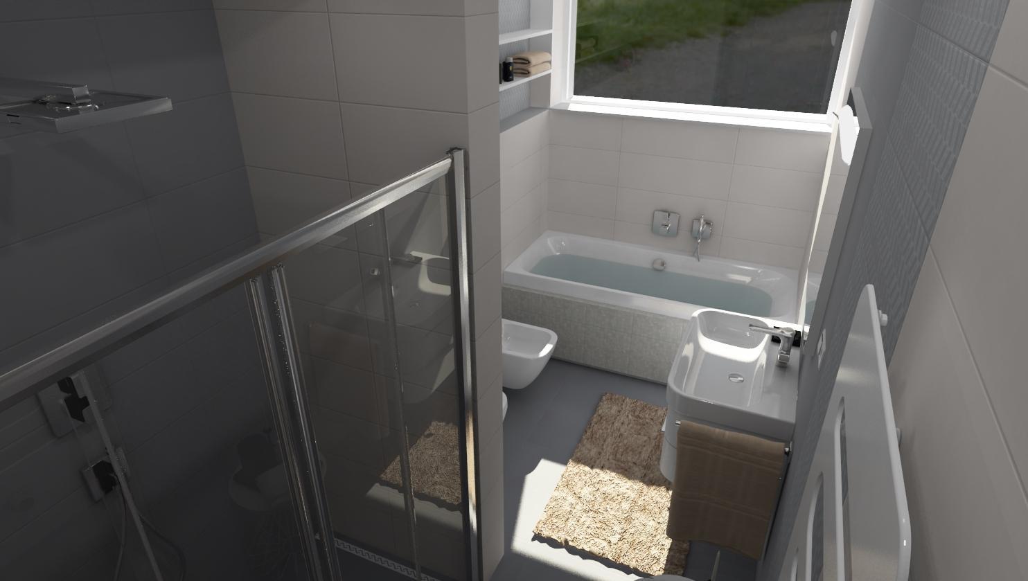 Vizualizácie kúpeľne - Vizualizácia kúpeľne PEARL / GREY 25x75 - www.modernekupelne.sk