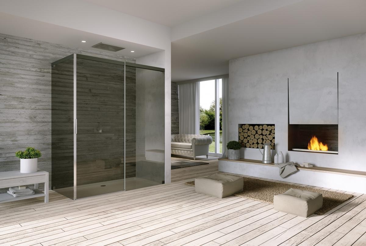 Dizajnové vybavenie kúpeľne - Posuvné sprchové dvere v elegantnom prevedení - ACQUA 50004