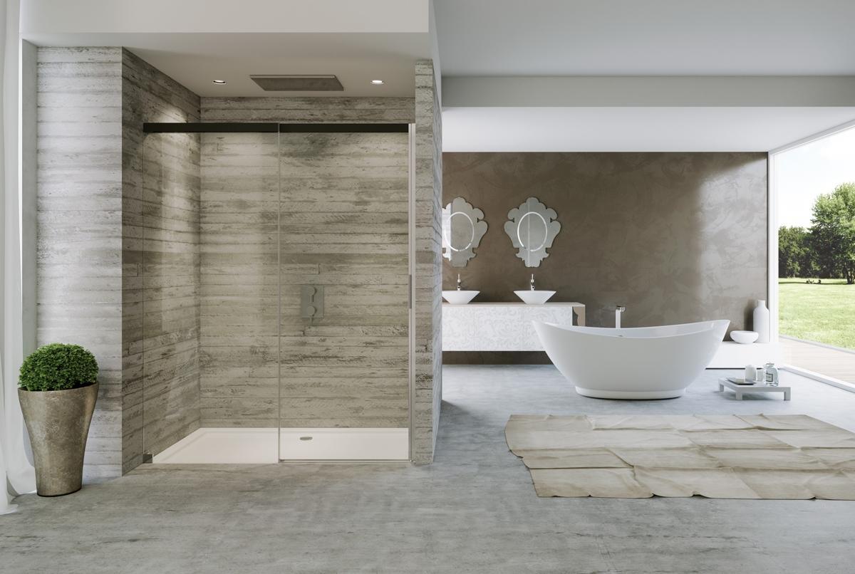 Dizajnové vybavenie kúpeľne - Posuvné sprchové dvere v elegantnom prevedení - ACQUA 50001