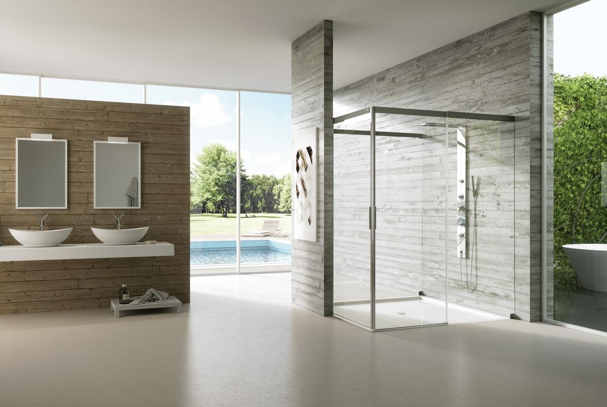 Dizajnové vybavenie kúpeľne - Posuvné sprchové dvere v elegantnom prevedení - ACQUA 50002