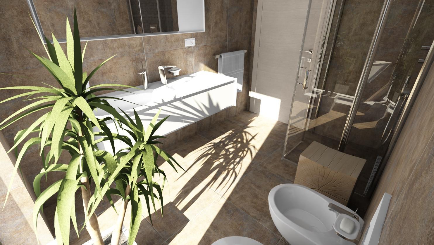 Vizualizácie kúpeľne - Vizualizácia kúpeľne Reaction 60x60