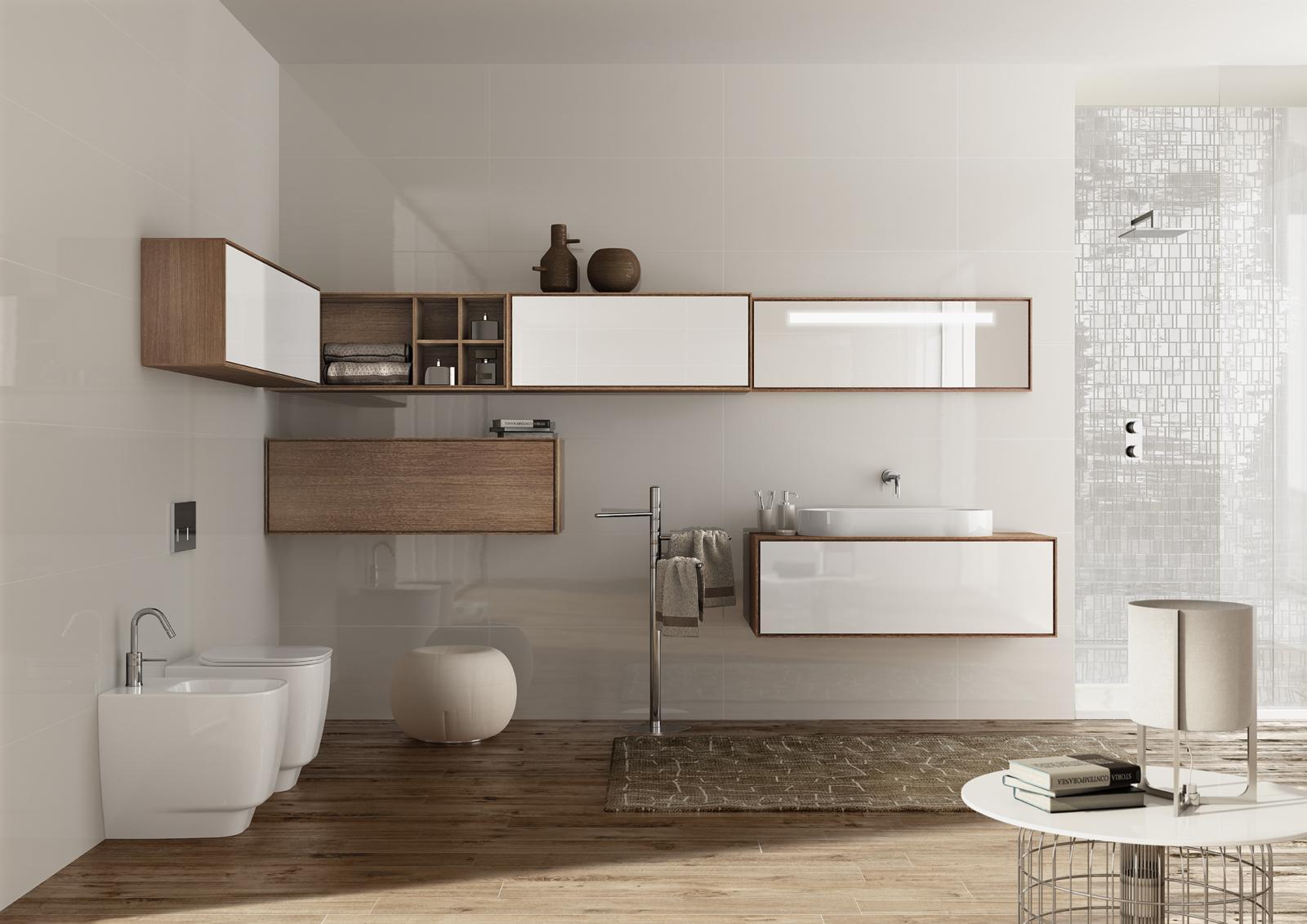 Dizajnové vybavenie kúpeľne - Kúpeľňový nábytok SLIDING WOOD