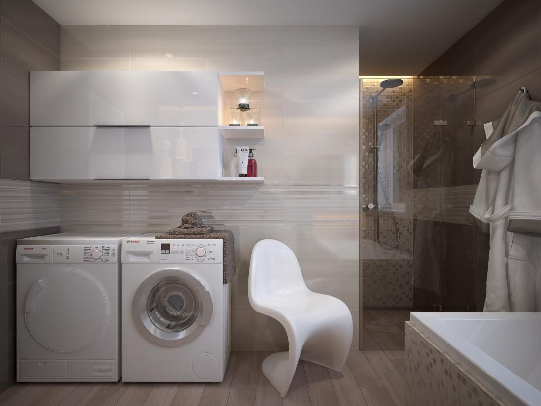 Vizualizácie kúpeľne - Vizualizácia kúpeľne Grey / Nut 30,5x56
