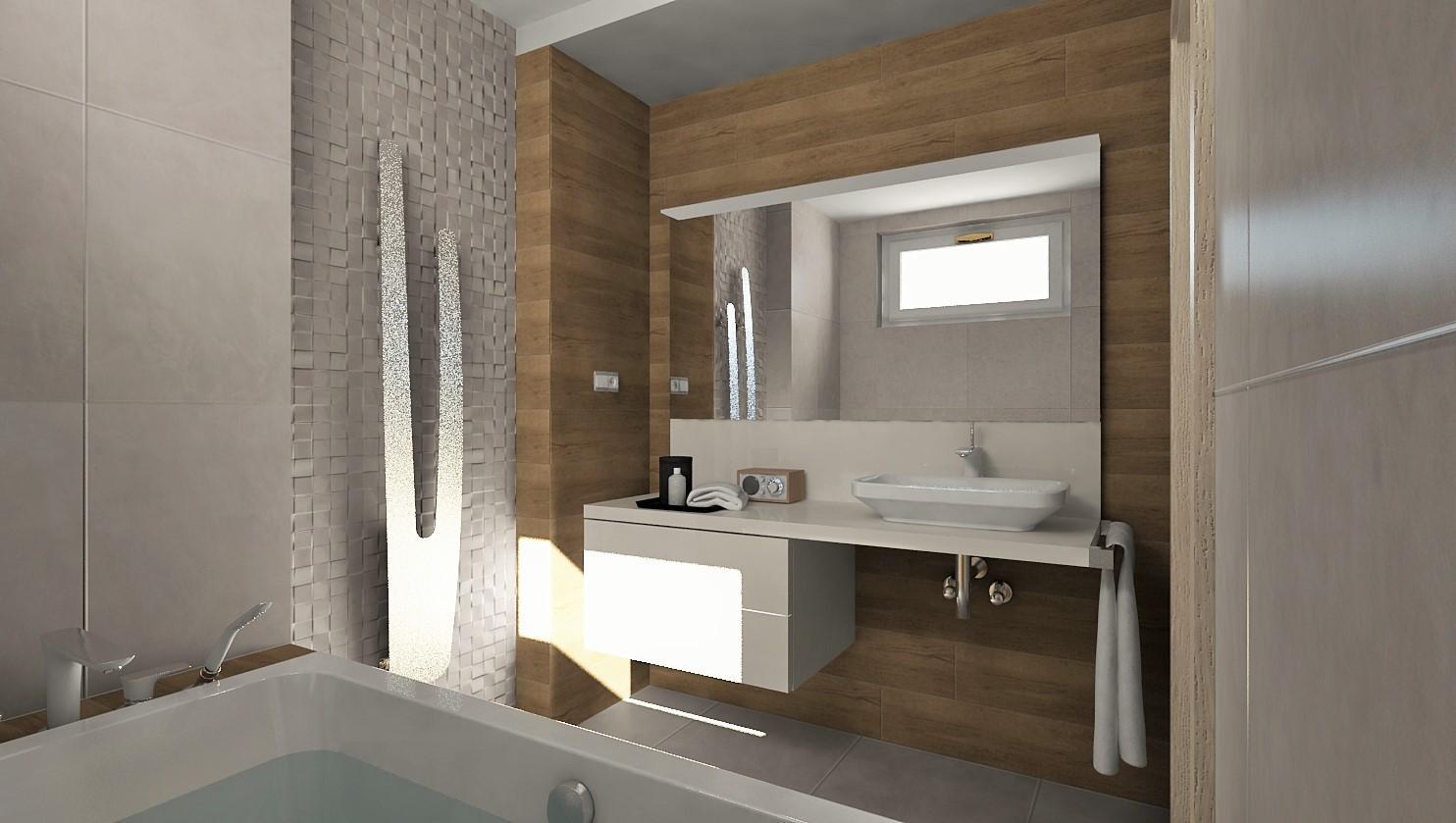 Vizualizácie kúpeľne - Vizualizácia kúpeľne s 3D mozaikou