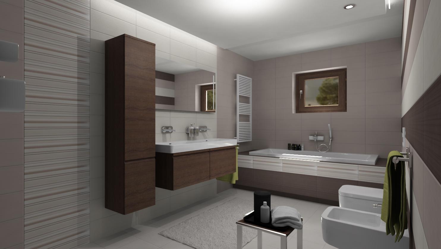 3D návrhy kúpeľní - vizualizácie - Obrázok č. 42
