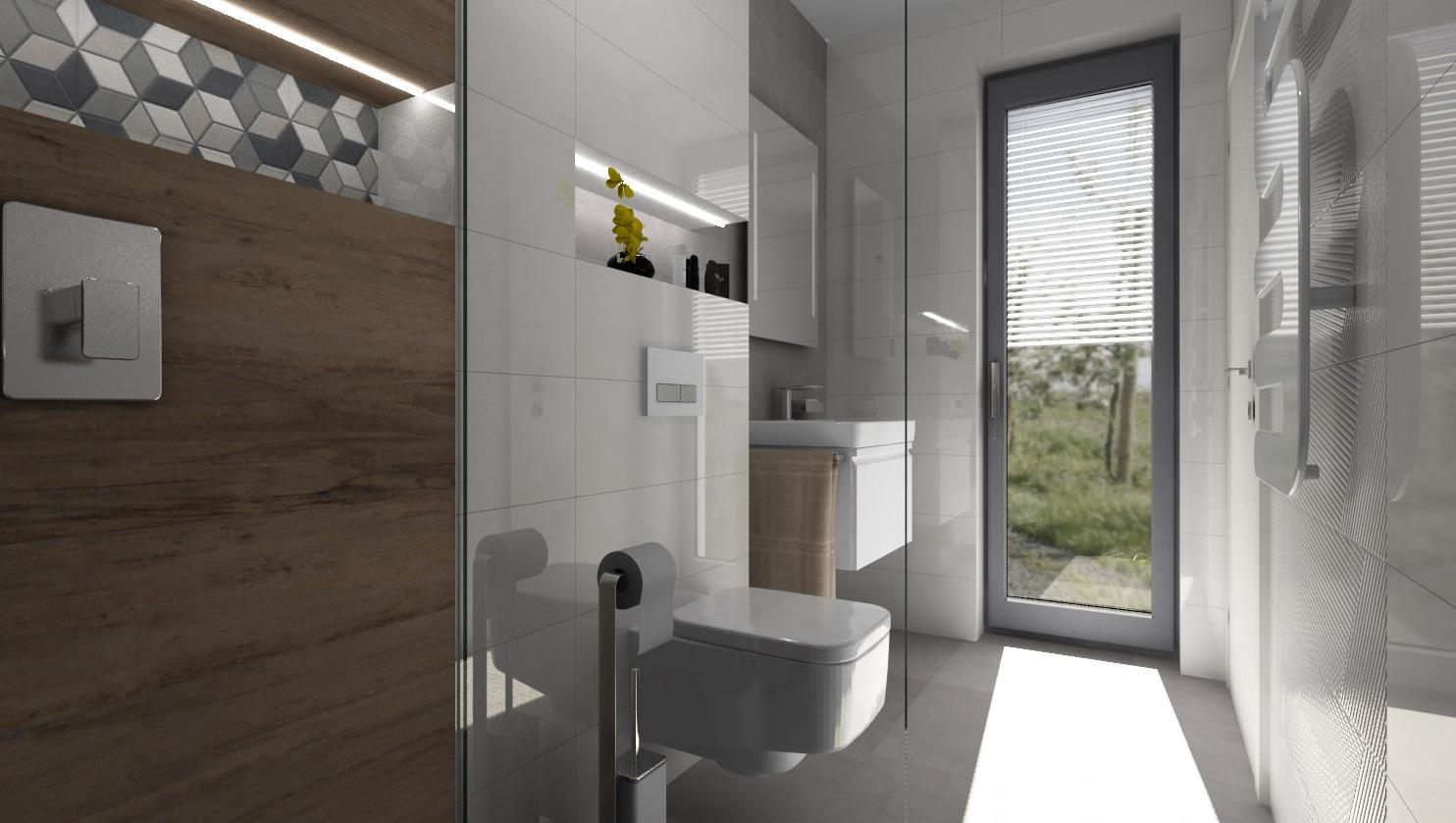 Dlažby do kúpeľne v imitácii dreva - www.modernekupelne.sk - DREVO - SIVÁ - BIELA  - návrh kúpeľne s vizualizáciou - obklad biely lesklý 25x75 - obklad dizajn dreva 20x120 - dlažba sivá matná 60x60