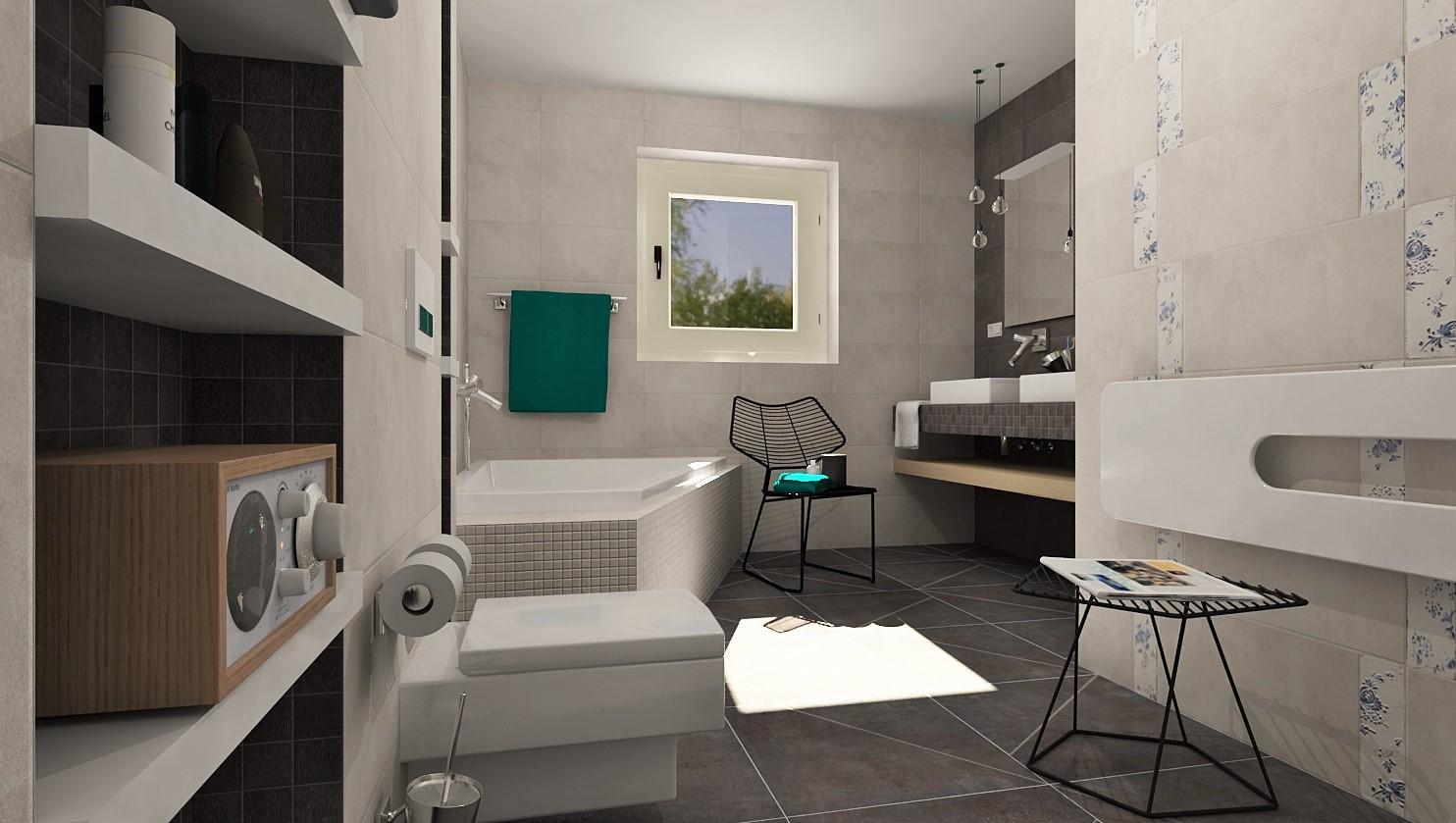 3D návrhy kúpeľní - vizualizácie - Obrázok č. 1