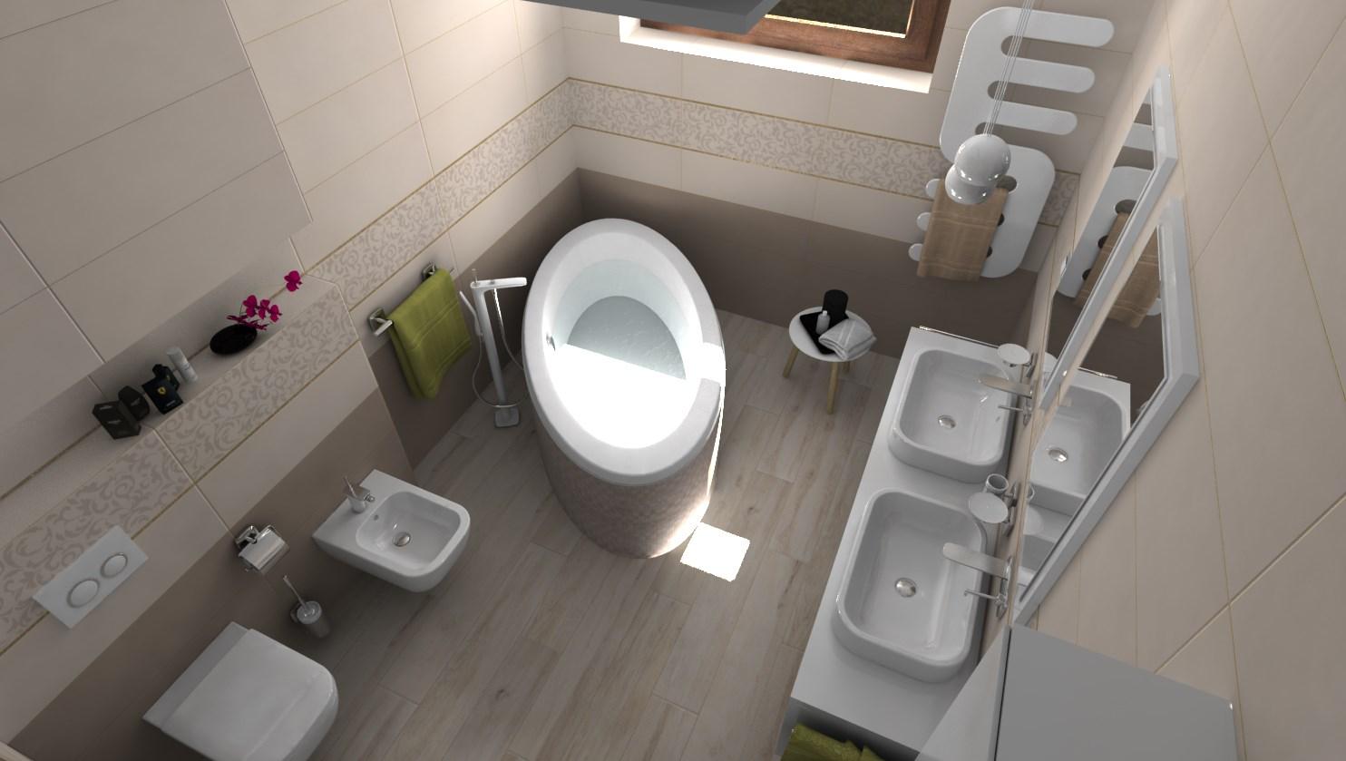 Vizualizácie kúpeľne - Vizualizácia kúpeľne - 2 spôsoby riešenia tej istej vane
