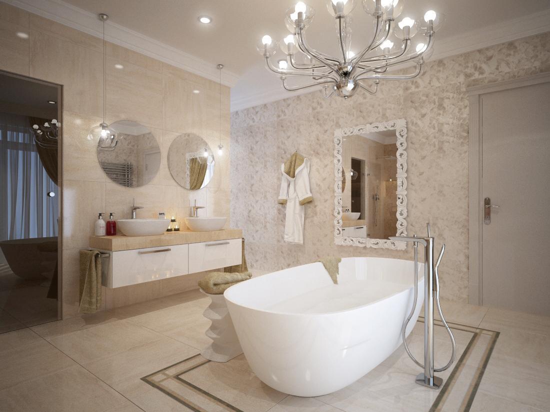 Návrhy a vizualizácie kúpeľní - Alebo s lemom okolo vane ...