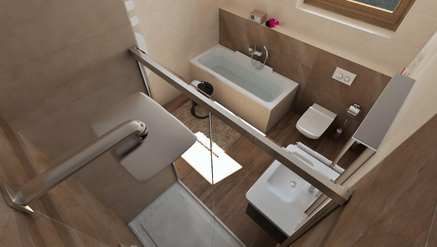 3D návrhy kúpeľní - vizualizácie - Obrázok č. 96