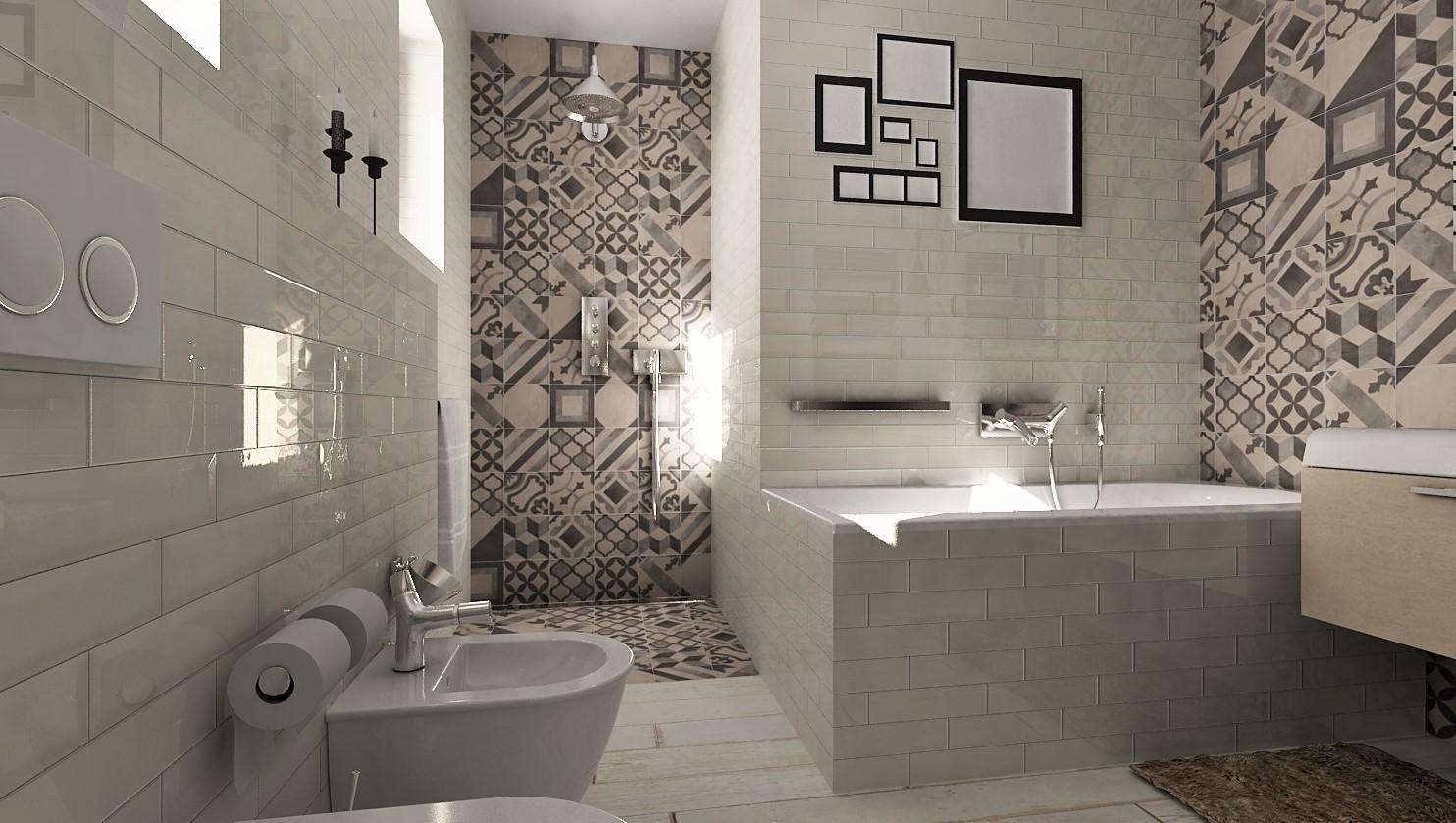 Návrhy a vizualizácie kúpeľní - Nový 3D návrh kúpeľne z našej tvorivej dielne - zatiaľ 1. verzia