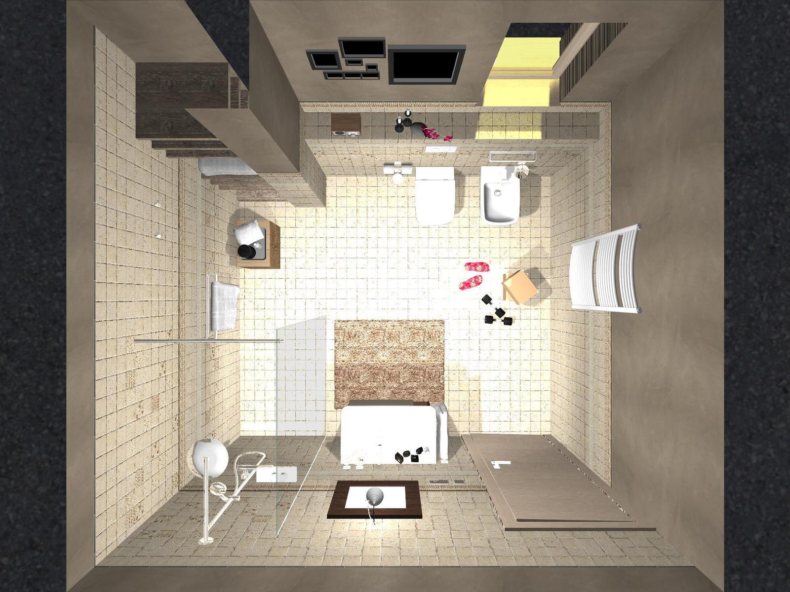 Návrhy a vizualizácie kúpeľní - ITALIAN COUNTRY - kolekcia obkladov 10x10 cm  - návrh a vizualizácia kúpeľne - www.beneva.sk