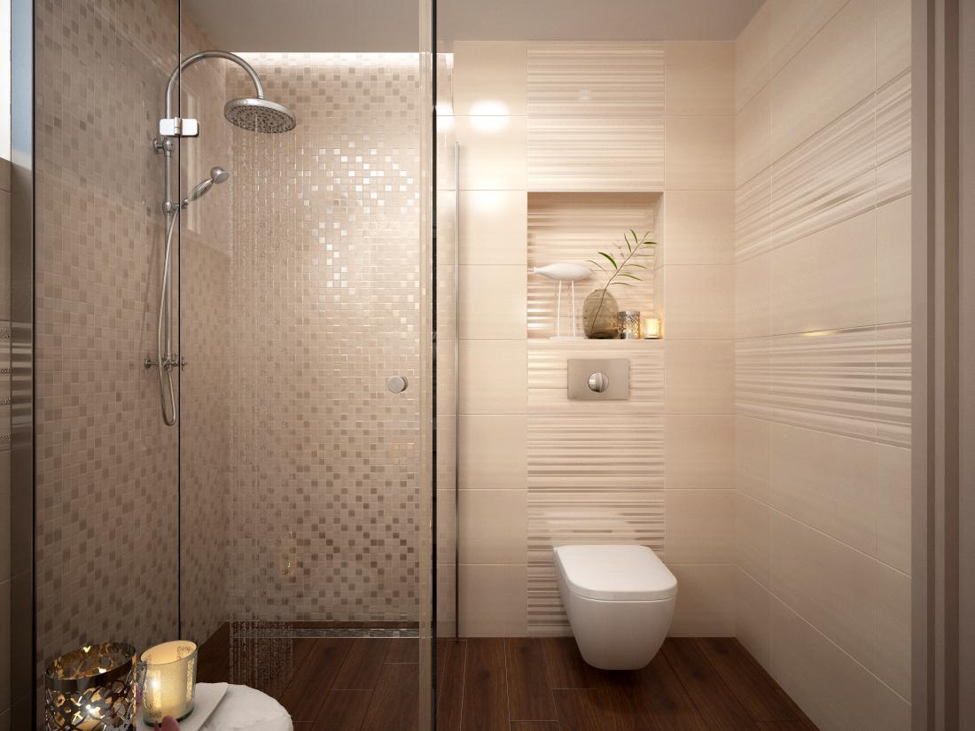 Kúpeľňové obklady v obľúbených béžových farbách - Vizaulizácia IVORY
