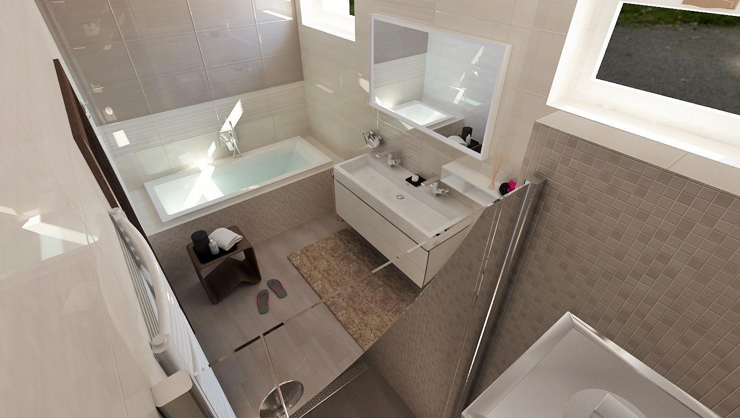 Návrhy a vizualizácie kúpeľní - Obrázok č. 59