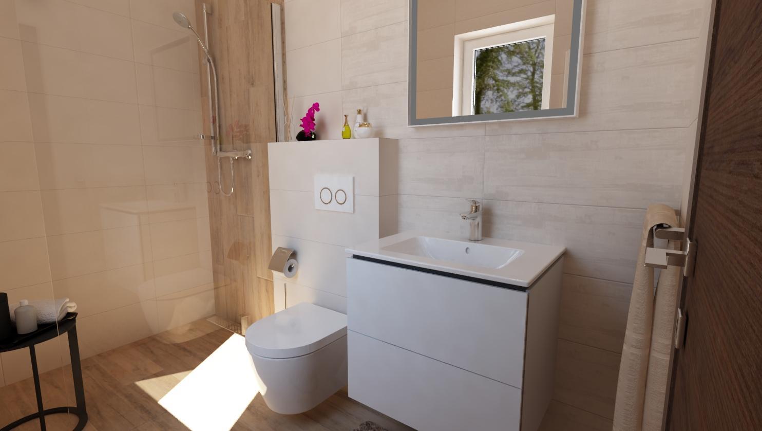 Návrhy a vizualizácie kúpeľní - Obrázok č. 66