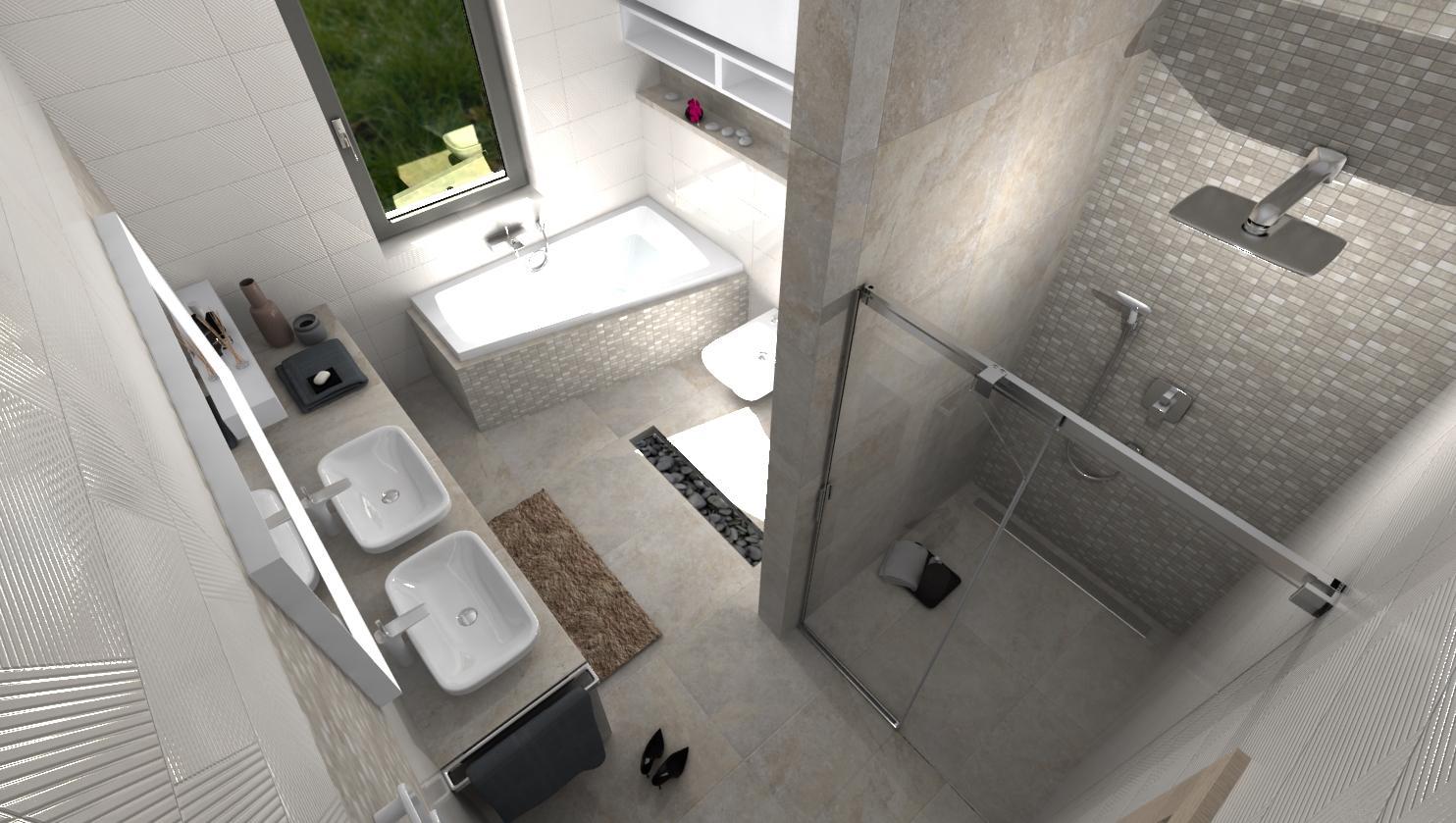 Návrhy a vizualizácie kúpeľní - Nová vizualizácia kúpeľne BENEVA - www.beneva.sk