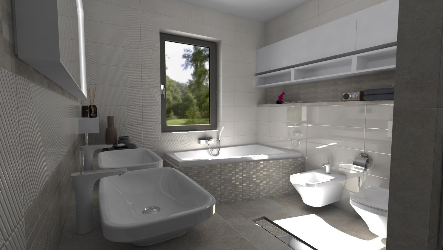 Návrhy a vizualizácie kúpeľní - Vizualizácia kúpeľne BENEVA - www.beneva.sk