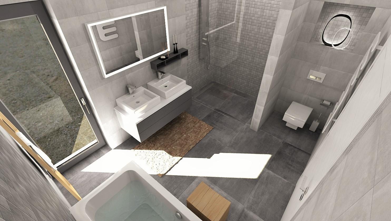Návrhy a vizualizácie kúpeľní - Obrázok č. 72