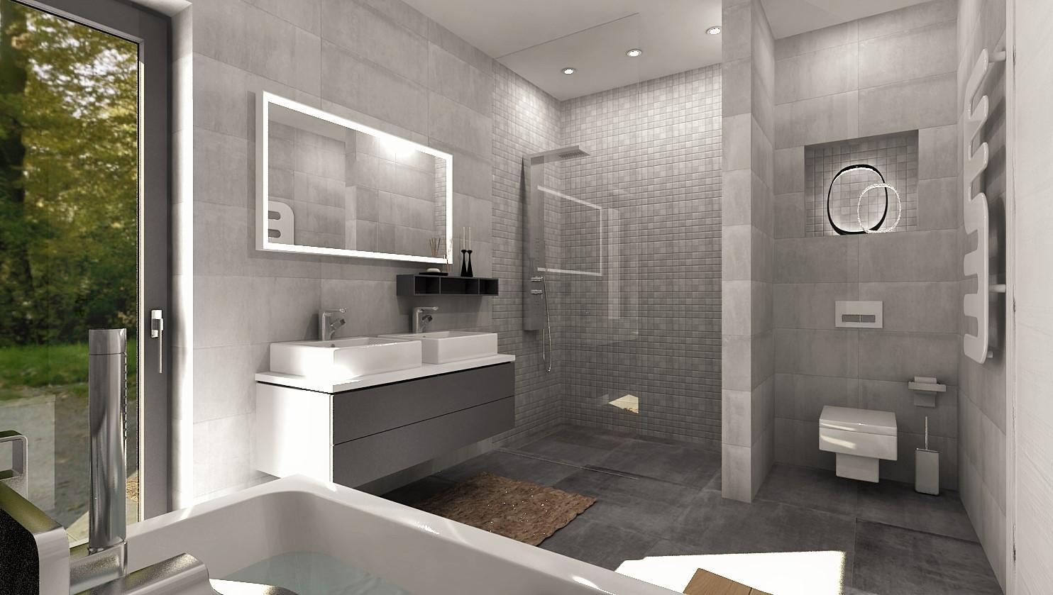 Návrhy a vizualizácie kúpeľní - Obrázok č. 73