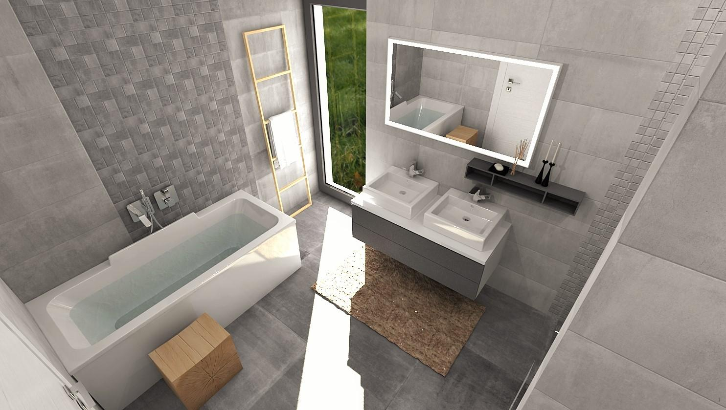 Návrhy a vizualizácie kúpeľní - Obrázok č. 75