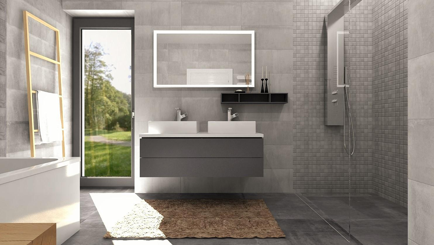 Návrhy a vizualizácie kúpeľní - Obrázok č. 76