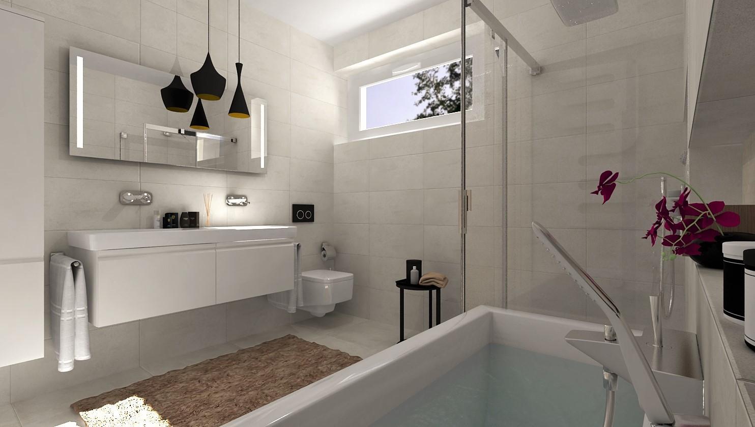 Návrhy a vizualizácie kúpeľní - Obrázok č. 89