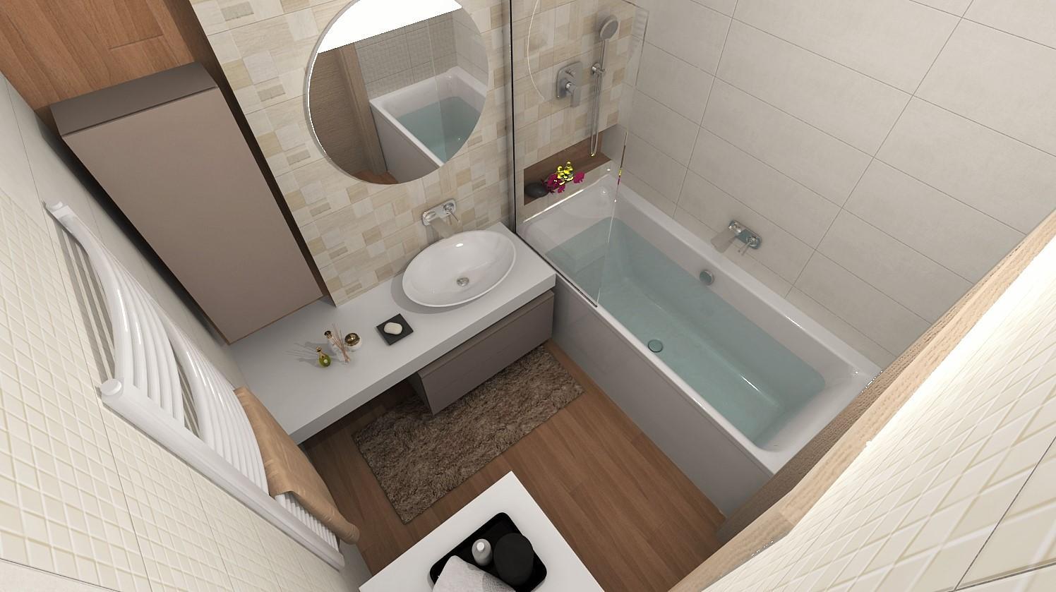 Návrhy a vizualizácie kúpeľní - Obrázok č. 95