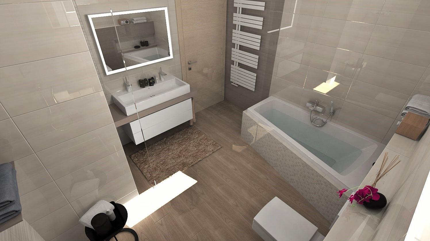 Návrhy a vizualizácie kúpeľní - Obrázok č. 98