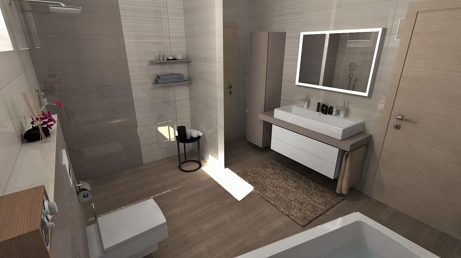 Návrhy a vizualizácie kúpeľní - Obrázok č. 99