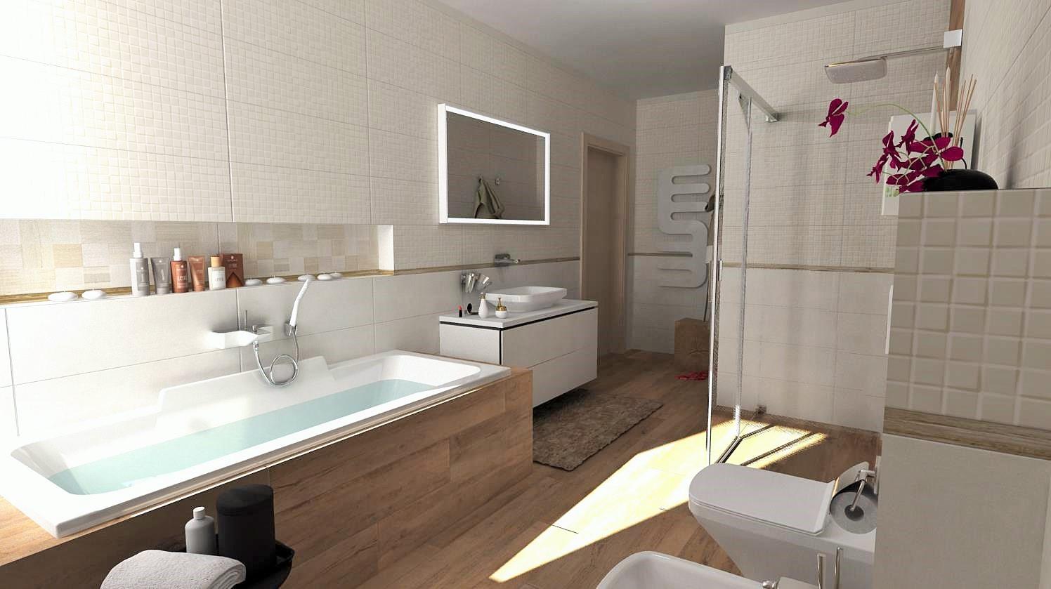 Vizualizácie kúpeľní - Alternatívne riešenie obkladov - vizualizácia - www.modernekupelne.sk/navrhy-kupelni