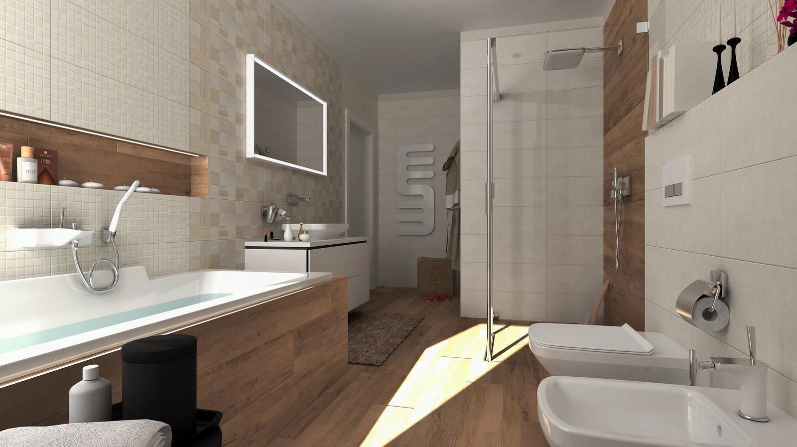 Vizualizácie kúpeľní - Vizualizácia kúpeľne BENEVA