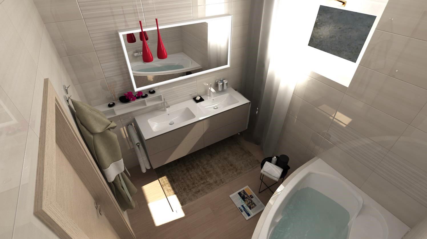 Vizualizácie kúpeľní - Vizualizácia kúpeľne z najobľúbenejšej tohtoročnej kolekcie obkladov Linear. Viac našich návrhov nájdete na: www.modernekupelne.sk/navrhy-kupelni