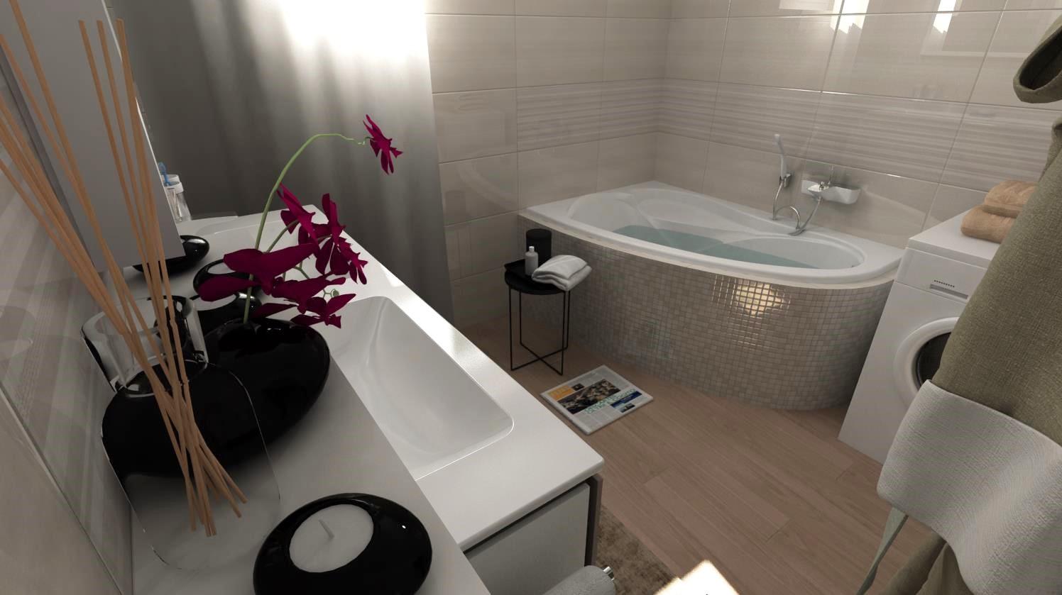 Vizualizácie kúpeľní - Vizualizácia kúpeľne z najobľúbenejšej tohtoročnej kolekcie obkladov Linear.