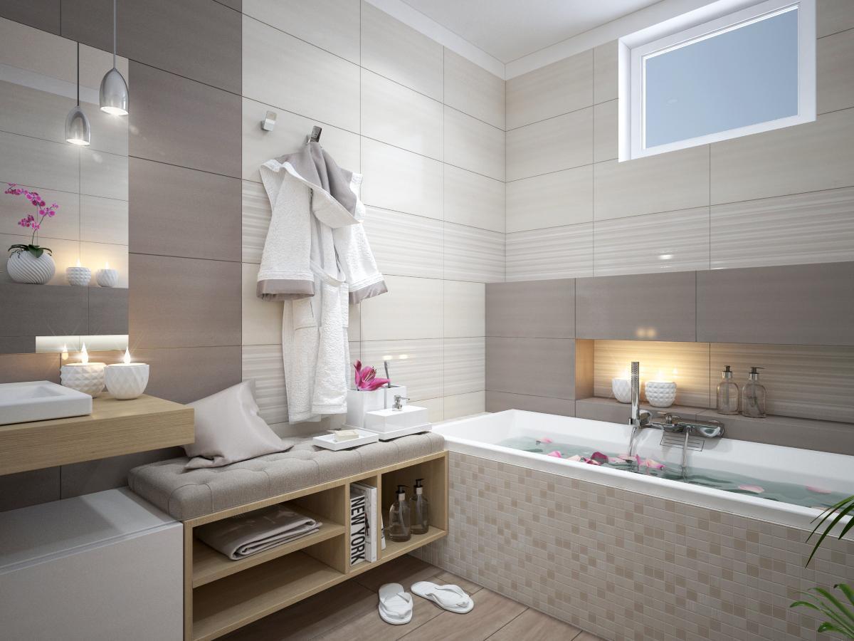 100+ riešení / Niky a murované poličky v kúpeľni / Naše 3D návrhy - Obrázok č. 8